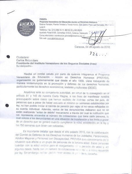 Recibido de derecho peiticion IVSS