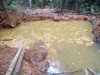 Muestra de los estragos ambientales que generan las minas en la entidad