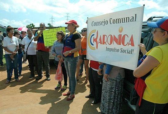 protesta en guyana